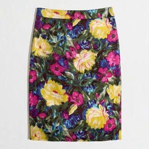 "J Crew ""The Pencil Skirt"" Floral skirt"